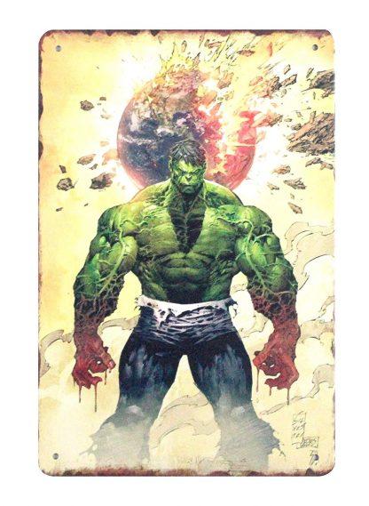 Marvel Comics Super Hero Incredible Hulk Metal Sign Metal Garage -code 0807a Comics