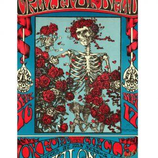 Grateful Dead skeleton rose psychedelic rock metal tin sign b02-Grateful Dead-14 Metal Sign garage wall decals