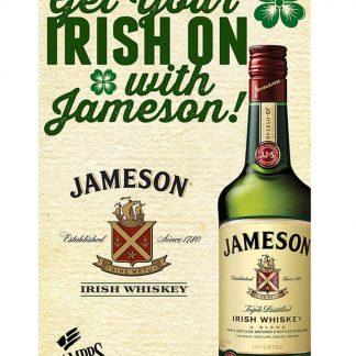 Jameson Irish Whiskey club bar metal tin sign b17-Irish Whiskey-10 Metal Sign bar