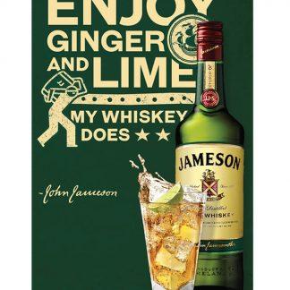 Jameson Irish Whiskey club bar metal tin sign b17-Irish Whiskey-3 Metal Sign art posters for sale