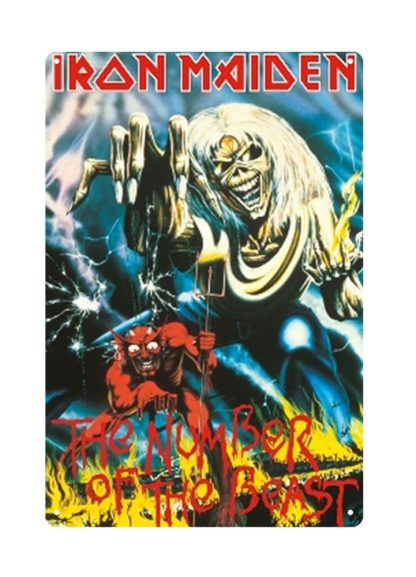 Iron Maiden English heavy metal band tin sign b22-Iron Maiden-23 Metal Sign bar signs