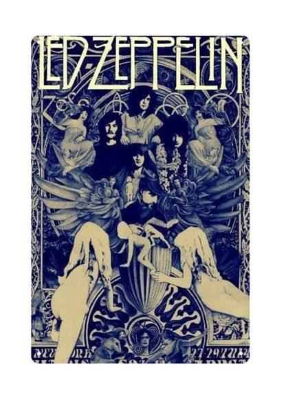 Led Zeppelin rock band metal tin sign b25-led zeppelin -1 Metal Sign buy home decor
