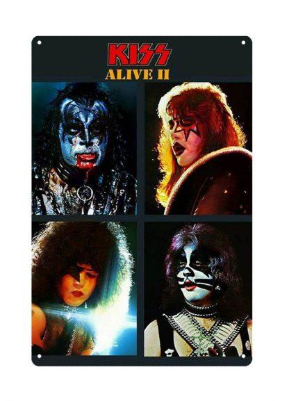 Kiss American rock band metal tin sign b28-Kiss Band-16 Metal Sign American
