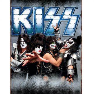 Kiss American rock band metal tin sign b28-Kiss Band-18 Metal Sign advertising wall restaurant pub