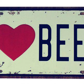 I love beer metal tin sign b53-beer1 (14) Beer Wine Liquor bar pub signs