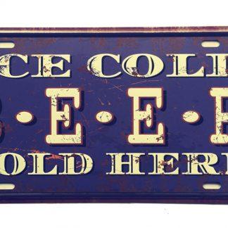 ice cold beer sold here metal tin sign b53-beer1 (15) Beer Wine Liquor beer