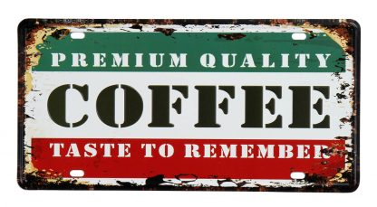 coffee taste to remember metal tin sign b59-coffee1 (1) Metal Sign art prints posters