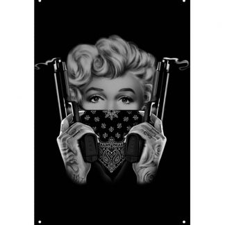 Marilyn Monroe sexy handgun tattoo metal sign b70-marilyn monroe-41 Metal Sign brewery bar art