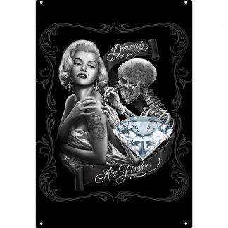 Marilyn Monroe sexy tattoo skeleton tin metal sign b71-marilyn monroe-59 Metal Sign garage home decor