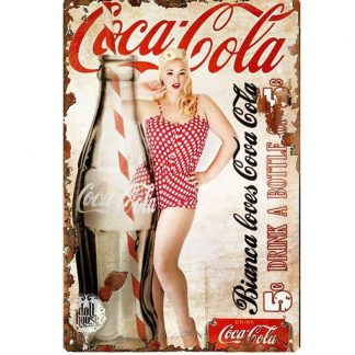 sexy coca cola girl metal tin sign b73-coca cola girl -3 Food Beverage Cola Coffee Tea coca cola