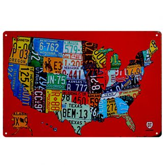 American map car license metal tin sign b74-route 66 -C-9 Gas Oil Automotive American