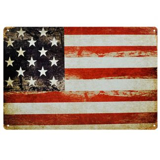 American flag US patriotic metal tin sign b75-USA Flag-4 Metal Sign American