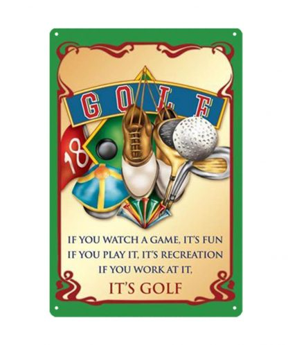 golf golfing sports game metal tin sign b80-8038 Metal Sign game