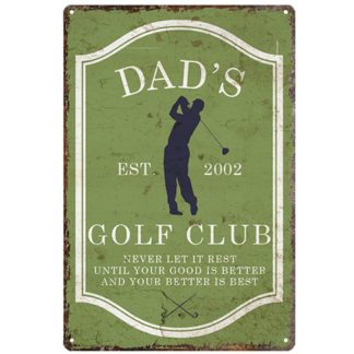dad's golf club sports game metal tin sign b80-8040 Metal Sign club