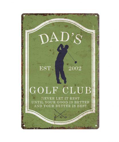 dad's golf club sports game metal tin sign b80-8040 Metal Sign club