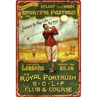 sporting passtime royal portrush golf club course metal tin sign b80-8042 Metal Sign club