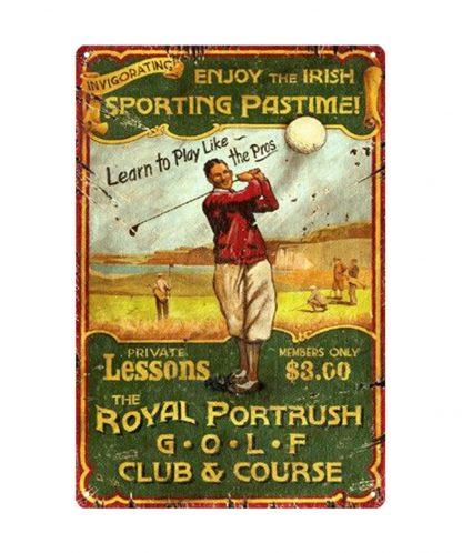 sporting passtime royal portrush golf club course metal tin sign b80-8042 Metal Sign club