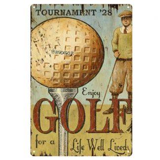 golf tournament metal tin sign b81-8046 Metal Sign bedroom wall art lodge cafes