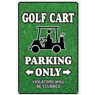 golf art parking only metal tin sign b81-8048 Metal Sign art