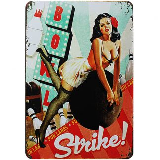 sexy girl pin-up strike metal tin sign b84-sexy girl -D-7 Metal Sign coffee shops metal wall decor