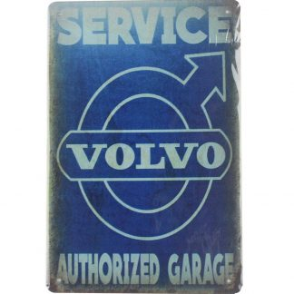 volvo service authorized garage vintage tin metal sign 0003a Metal Sign authorized