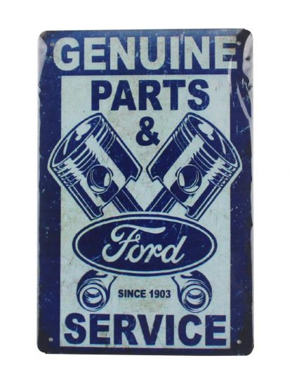 Genuine parts Ford Pistons 1903 tin metal sign 0004a Metal Sign 1903