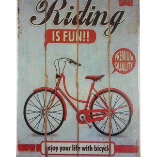 Riding is Fun tin metal sign 0005a Metal Sign collectible reproductions