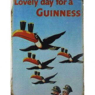 Lovely day for a Guinness tin metal sign 0014a Beer Wine Liquor a