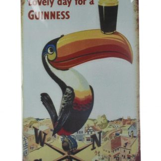 Lovely day for a Guinness tin metal sign 0015a Beer Wine Liquor a