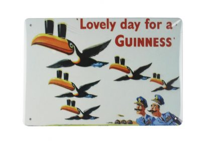 Lovely day for a Guinness tin metal sign 0016a Beer Wine Liquor a