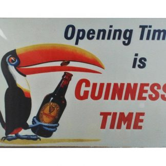 Opening Time is Guinness Time tin metal sign 0018a Beer Wine Liquor Guinness