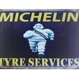 Mechelin Tyre Services tin metal sign 0023a Gas Oil Automotive garage poster reproduction wall art