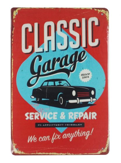 Classic Garage tin metal sign 0026a Metal Sign apartment accessories