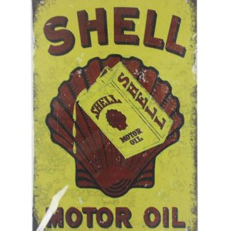 Shell Motor Oil tin metal sign 0027a Gas Oil Automotive at home wall art