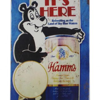 Hamms Beer drink bar bear tin metal sign 0031a Beer Wine Liquor all home decor