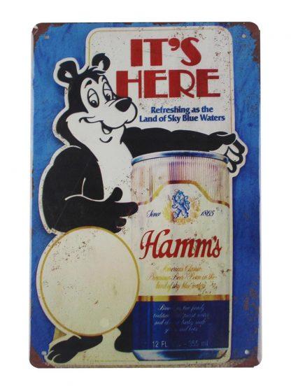 Hamms Beer drink bar bear tin metal sign 0031a Beer Wine Liquor all home decor