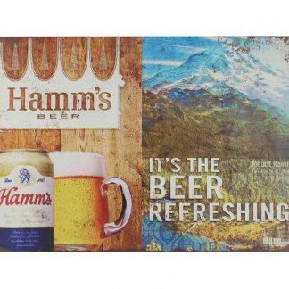 Hamms Beer drink bar tin metal sign 0033a Beer Wine Liquor bar