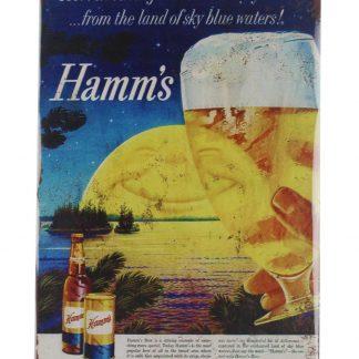 Hamms Beer drink bar tin metal sign 0039a Beer Wine Liquor bar