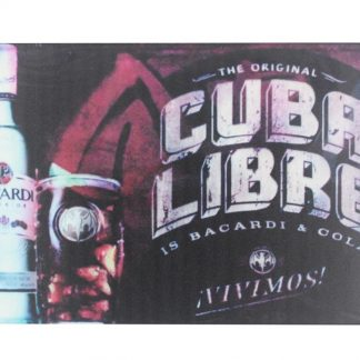 Cuba Libre BACARDI rum cocktail tin metal sign 0043a Beer Wine Liquor BACARDI
