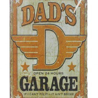Dad's Garage tin metal sign 0045a Metal Sign collectible metal sign