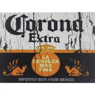 Corona Extra Beer Cerveza tin metal sign 0047a Beer Wine Liquor beer