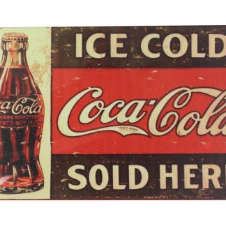Ice Cold Coca Cola tin metal sign 0050a Food Beverage Cola Coffee Tea advertising bedroom wall art