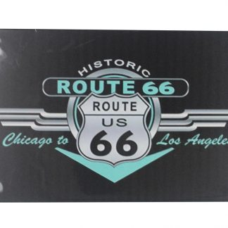 Historic Route 66 Chicogo to Los Angeles tin metal sign 0052a Gas Oil Automotive Angeles