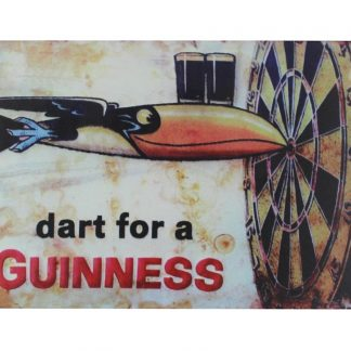 dart for a Guinness tin metal sign 0056a Beer Wine Liquor a