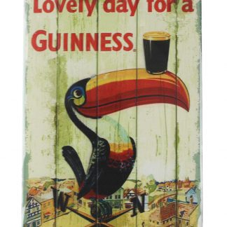 Lovely day for a Guinness tin metal sign 0057a Beer Wine Liquor a