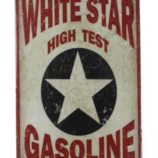 White Star high test gasoline tin metal sign 0063a Gas Oil Automotive antique wall signs