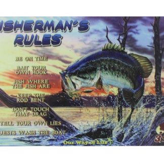 fisherman's rules tin metal sign 0064a Metal Sign chic home decor