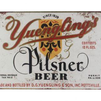 Pilsner beer 1934 Yuengling tin metal sign 0066a Beer Wine Liquor 1934