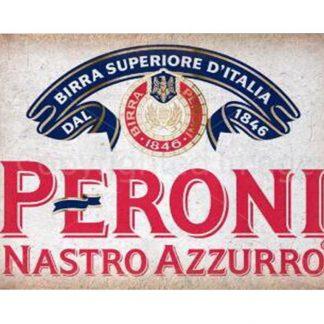 Peroni Nastro Azzurro beer tin metal sign 0067a Beer Wine Liquor Azzurro