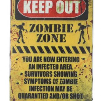 Keep Out Zombie Zone tin metal sign 0068a Metal Sign brewery bar home decor